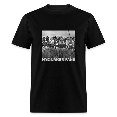 mens construction workers black tshirt - Men's T-Shirt