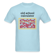 T-Shirts ~ Men's T-Shirt ~ Old School Caclulator (abacus)