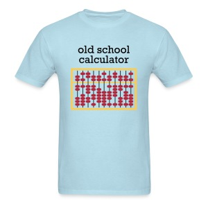 Old School Caclulator (abacus) - Men's T-Shirt