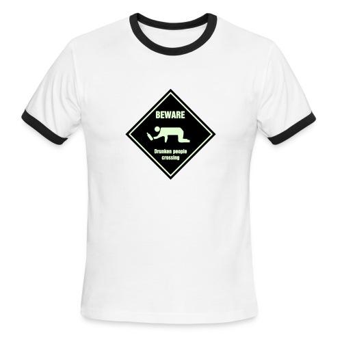 Beware Drunken Crossing - Men's Ringer T-Shirt