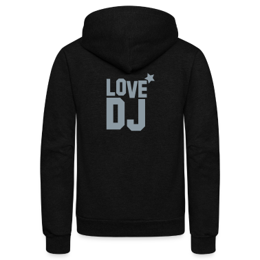 love dj with star music! Zip Hoodies/Jackets