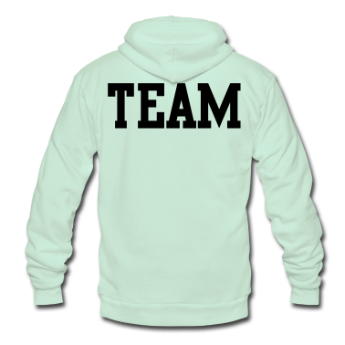 team in college font Zip Hoodies/Jackets