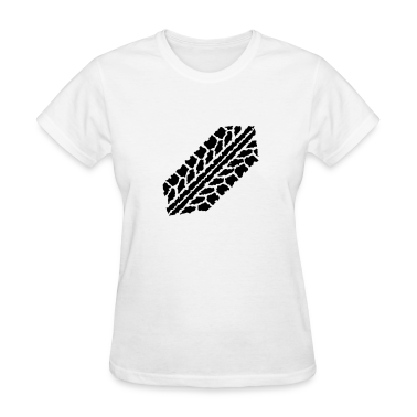 Car skidmark Women's T-Shirts