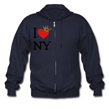 I LOVE ... with crown askew + your text | men's zi