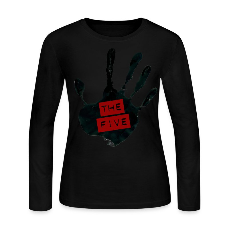 the_five_logo__black_on_transparent - Women's Long Sleeve Jersey T-Shirt