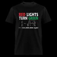 T-Shirts ~ Men's T-Shirt ~ Red Lights Turn Green (doppler shift effect)