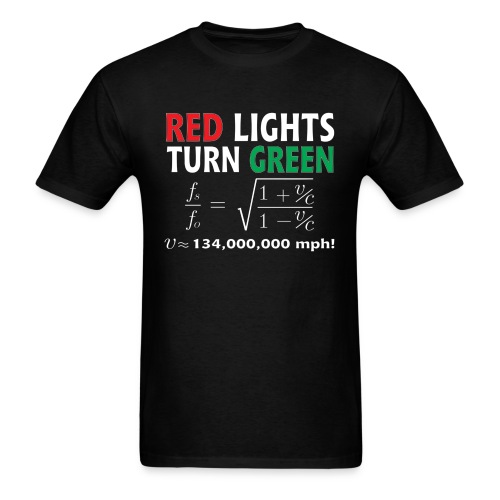 Red Lights Turn Green (doppler shift effect) - Men's T-Shirt