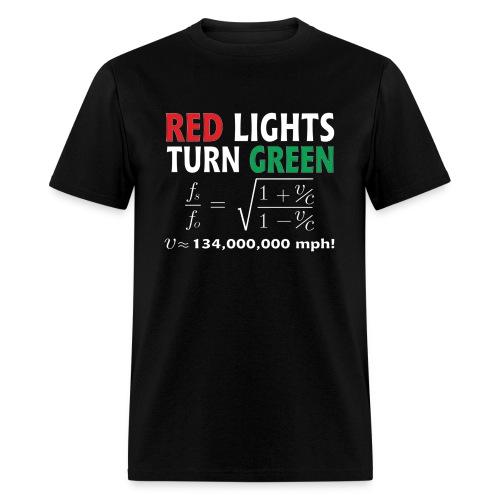 Red Lights Turn Green (doppler shift effect) - Men's T-Shirt