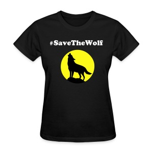 #SaveTheWolf Yellow Moon - Women's T-Shirt