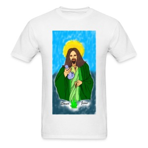 Stoner Jesus t-shirt by @dankraven420 - Men's T-Shirt
