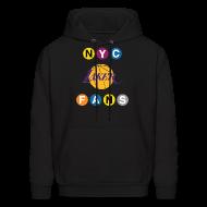Hoodies ~ Men's Hoodie ~ mens subway sweatshirt black