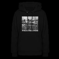 Hoodies ~ Women's Hoodie ~ womens construction hooded sweatshirt black