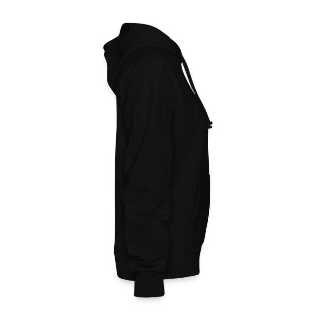 womens construction hooded sweatshirt black