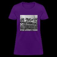 T-Shirts ~ Women's T-Shirt ~ womens construction works tshirt purple