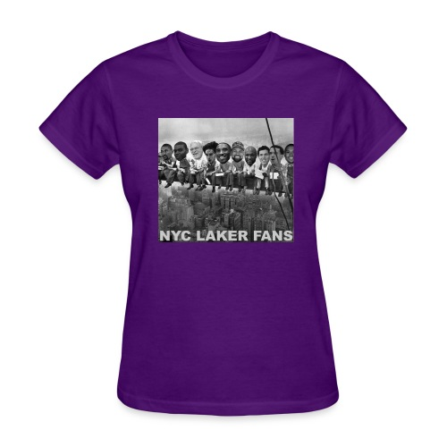 womens construction works tshirt purple - Women's T-Shirt
