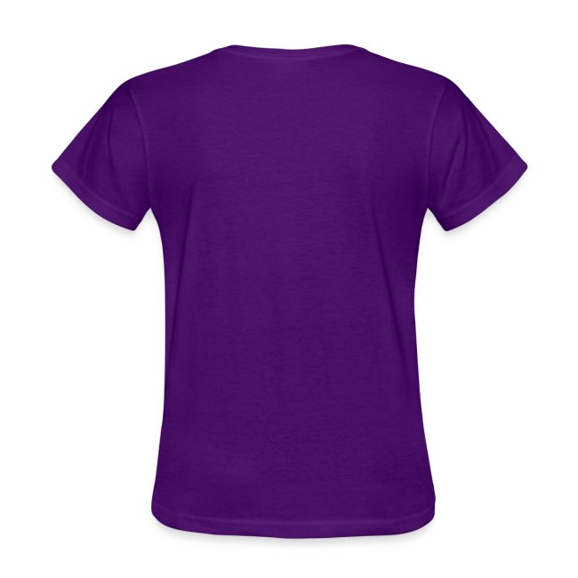 womens construction works tshirt purple