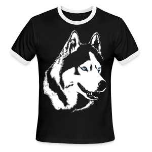Husky T-shirt Siberian Husky Shirts Men's Ringer T-shirt - Men's Ringer T-Shirt