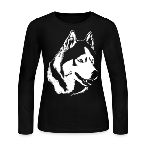Husky T-shirt Siberian Husky Shirts & Gifts - Women's Long Sleeve Jersey T-Shirt