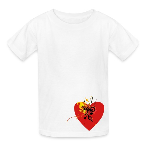 Unisex Heart Art Tee - Kids' T-Shirt