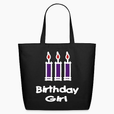 Birthday Girl With 3 Candles Bags