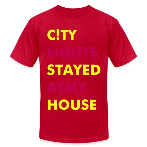 stayed at my house CL - Men's Fine Jersey T-Shirt