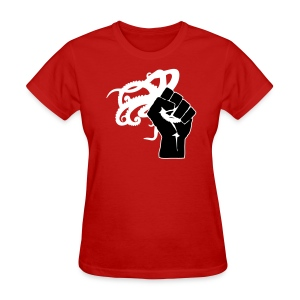 Women's Octopus Revolution - Front Logo Only (Red) - Women's T-Shirt