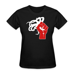 Women's Octopus Revolution - Front Logo Only (Black) - Women's T-Shirt