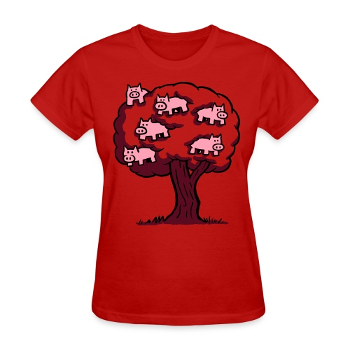Pig Tree - Women's T-Shirt