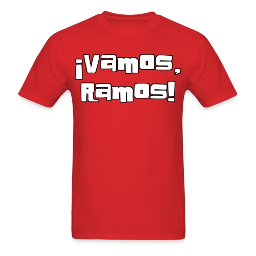 Vamos, Ramos! With number on back. - Men's T-Shirt