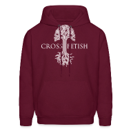 Hoodies ~ Men's Hoodie ~ Mens Cross-fetish hoodie with CFO on back