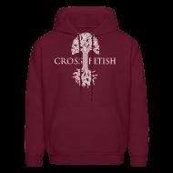 Hoodies ~ Men's Hoodie ~ Mens Cross-fetish hoodie with CFO on back