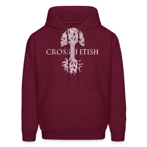 Mens Cross-fetish hoodie with CFO on back - Men's Hoodie