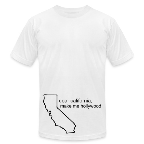 Dear California w/ Black Letters - Men's Fine Jersey T-Shirt
