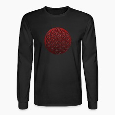FLOWER OF LIFE | red glass punched | men's long sl