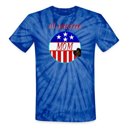 All American MOM - Unisex Tie Dye T-Shirt