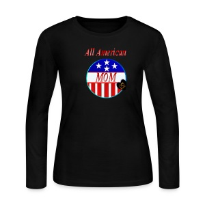 All American MOM - Women's Long Sleeve Jersey T-Shirt