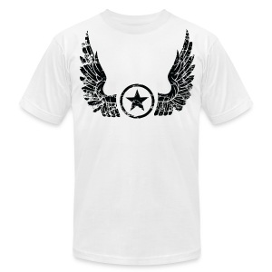Distressed Wings - Men's T-Shirt by American Apparel