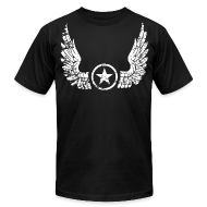 T-Shirts ~ Men's T-Shirt by American Apparel ~ Distressed Wings