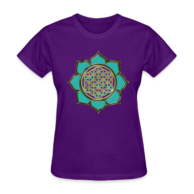 FLOWER OF LIFE - lotus ocean green | women's stand