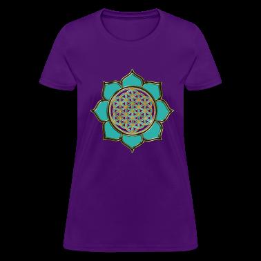 FLOWER OF LIFE - lotus ocean green | women's stand