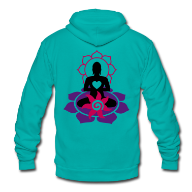 BUDDHA ENERGY - vector | unisex fleece zip hoodie