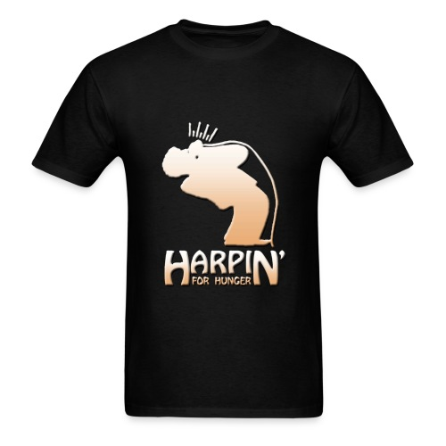Harpin' For Hunger t-shirt (black) - Men's T-Shirt