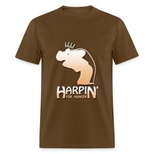 Harpin' For Hunger t-shirt (brown) - Men's T-Shirt