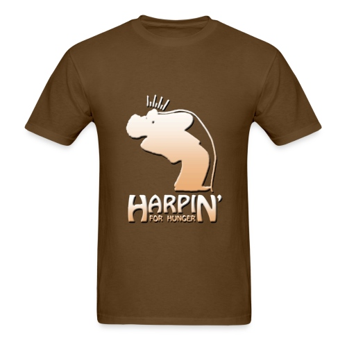 Harpin' For Hunger t-shirt (brown) - Men's T-Shirt