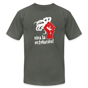 American Apparel Viva la Octolución! (Charcoal) - Men's Fine Jersey T-Shirt