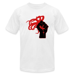 American Apparel Octopus Revolution Logo (White) - Men's T-Shirt by American Apparel
