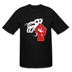 Men's Tall Octopus Revolution (Black) - Men's Tall T-Shirt