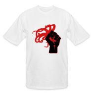 T-Shirts ~ Men's Tall T-Shirt ~ Men's Tall Octopus Revolution (White)