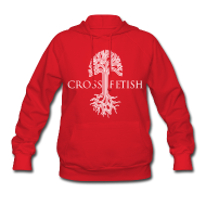 Hoodies ~ Women's Hoodie ~ Women's Cross-fetish hoodie with CFO on back
