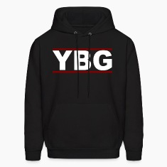 YBG Stripe Hoodie Black/Red/White